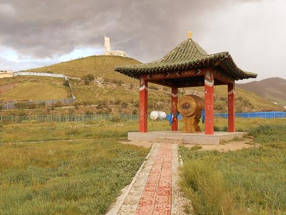 Le tambour au Bouddha parc. Le 28 juillet 2012.