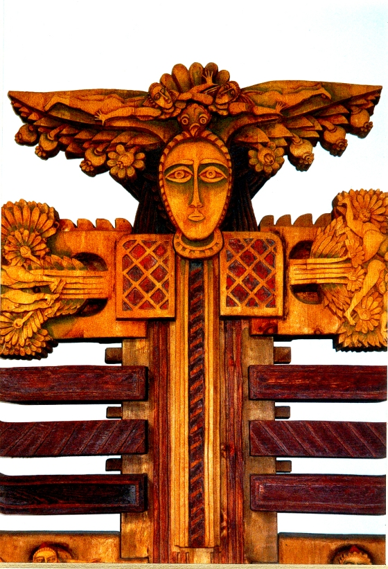 Totem bulgare au musée ethnographique de Vratza.